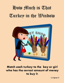 counting money How Much Is That Turkey in the Window