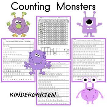 Counting Practice Monster Themed