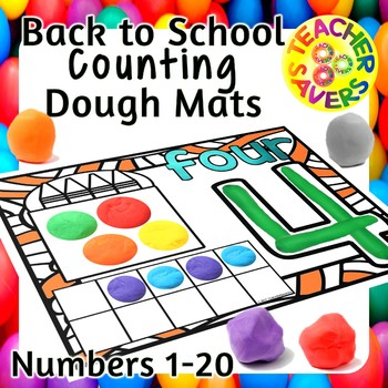 counting play dough mats