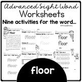 Floor Red Word Activities For Centers