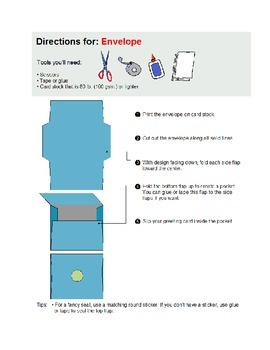 craft envelopes with directions