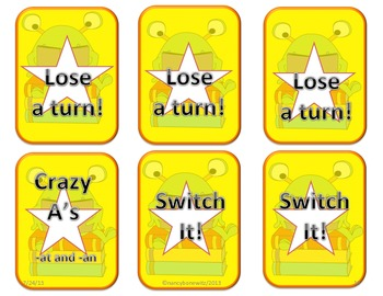 crazy A's  -at and -an CVC word game  (Common Core)