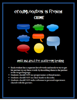 crime circumlocution FRENCH