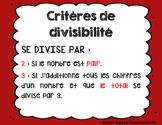 critères de divisibilité
