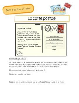 Écriture de carte postale