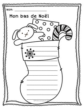 Écritures de Noël // French Writing Starters
