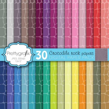 crocodile animal print digital paper, commercial use, scrapbook papers - PS595