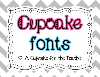 Cupcake Fonts {Personal & Commercial Use}