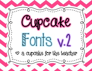 Cupcake fonts v.2 {Personal & Commercial Use}