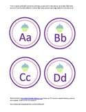 cupcake themed alphabet cards with bonus blank cards and welcome poster