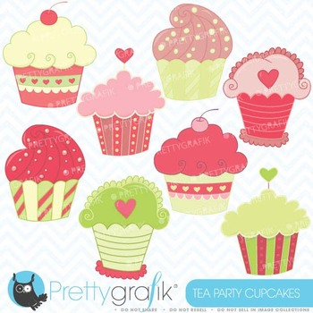 cupcakes clipart commercial use, vector graphics, digital clip art - CL352