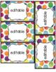 custom request 3 x 5 bright watercolor dots editable