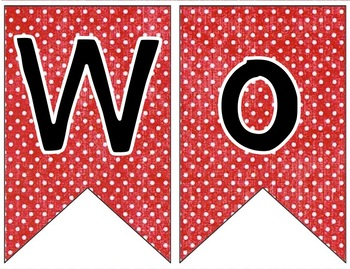 custom request editable banner red with white dots