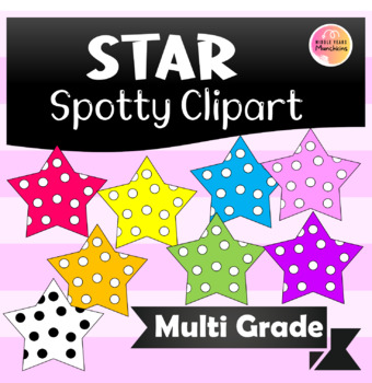cute colourful spotty fun Star Clipart