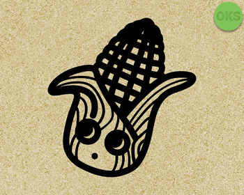 cute corn SVG cut files, DXF, vector EPS cutting file instant download