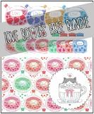 Valentine themed love bottles bundle (illustrations and ba