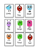 cute monster Sight word flash cards