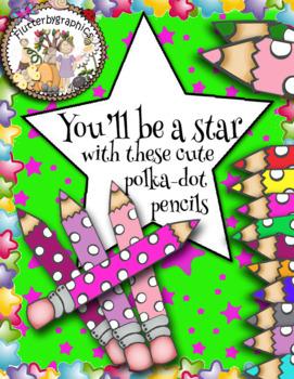 cute polka-dot pencils