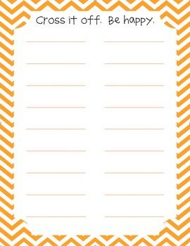 cute to-do lists to keep you organized.
