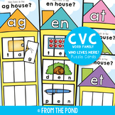 cvc Activities - Word Family House Puzzles