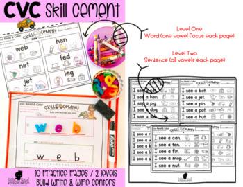 CVC Read & Color: Skill Cement