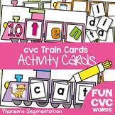 cvc Train Cards - Phoneme Segmentation Activities