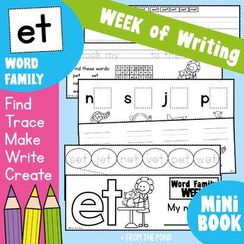 cvc Word Families Week of Work - et Word Family