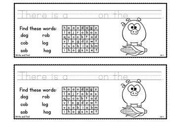 cvc Word Families { ob/og } Week of Writing
