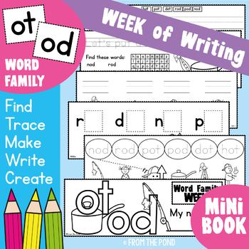 cvc Word Families { od/ot } Week of Writing