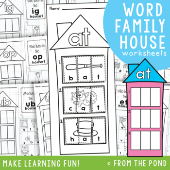 cvc Word Family Worksheets by From the Pond | Teachers Pay Teachers