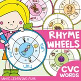 cvc Word Rhyme Wheels: cvc Activities