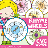 cvc Word Rhyme Wheels: cvc Activities