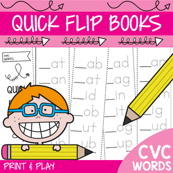 cvc Words Activity Books Print and Play
