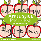 cvc Words - Apple Slice - Making Words with Onset & Rime