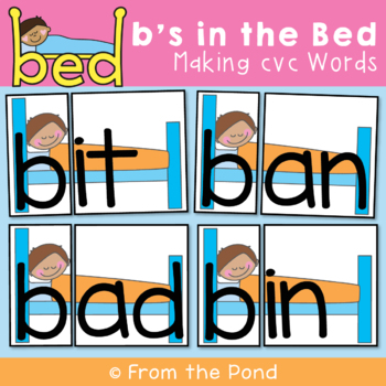 cvc Words - Bs in the Bed - Making Words with Onset & Rime