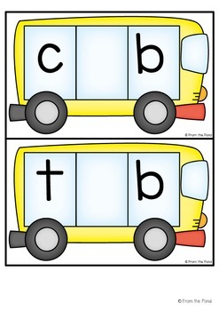 cvc Words - Bus It - Making Words with Short Vowels