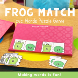 cvc Words Center Activity - Frog Match Game