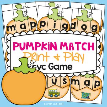 cvc Words - Pumpkin Match - Making cvc Words