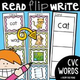 cvc Words - Read Flip Write Activity Cards
