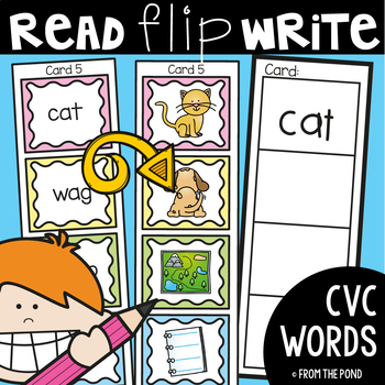 cvc Words - Read Flip Write Activity Cards