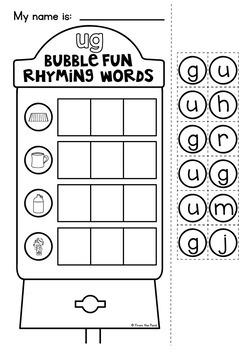 cvc Word Families Worksheets