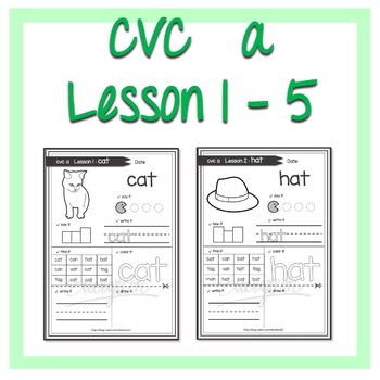 cvc a words Lesson 1 - 5
