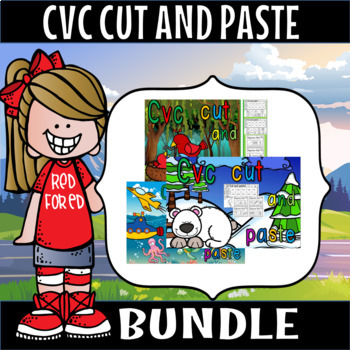 cvc cut and paste bundle plus exit tickets a,e,i,o and u (50% off for 2 weeks)