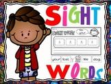 sight words cut and paste sentences