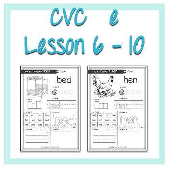 cvc e words Lesson 6 - 10