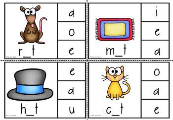 cvc medial vowel clipcards(a)