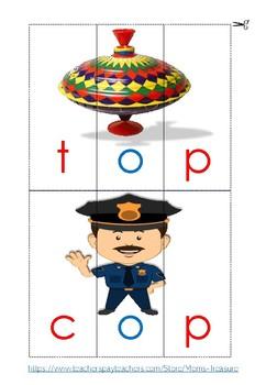 Word Families cvc puzzle cards