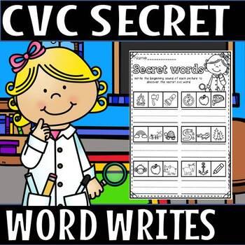 cvc secret words write/short a(50% off for 48 hours)