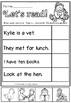 cvc sentences cut and paste short e