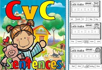 cvc sentences short e